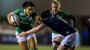Sene Naoupu in action for Ireland against Scotland in this Six Nations