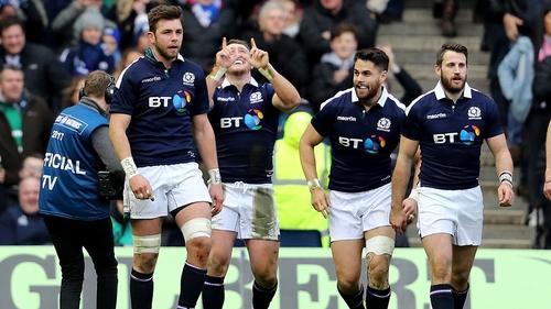 Scotland celebrate a first-half try
