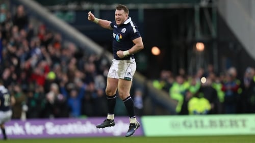 Hogg scored two tries in a man of the match performance against Ireland