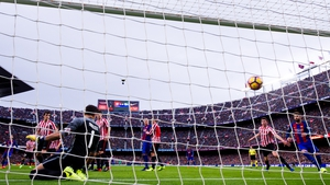 Barcelona moved to within a point of leaders Real Madrid