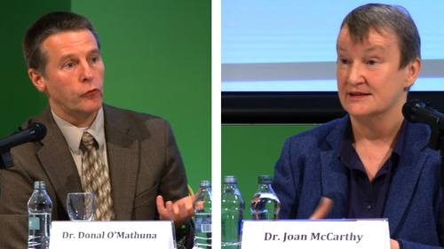 Dr Donal O'Mathuna and Dr Joan McCarthy addressed the assembly