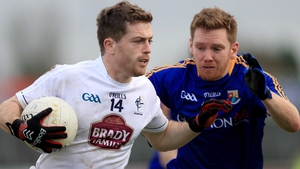 Niall Kelly was Kildare's star performer against the Royals at Páirc Tailteann