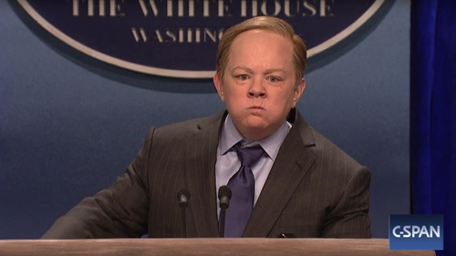 Melissa McCarthy is unrecognisable as Sean Spicer