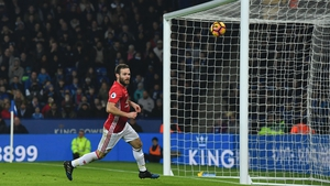 Juan Mata doubles the lead for Manchester United at the King Power Stadium