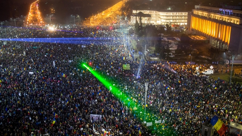 There have been six nights of noisy protests across Romania