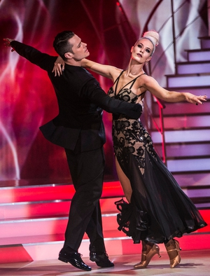 Week 5: Aoibheann and Vitali went back to black with this sultry Viennese Waltz. Aoibheann's backless dress is an absolute knock out.