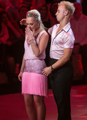 Week 5: Dr. Eva looked pretty in pink for her Cha Cha but sadly it was her final dance in the series.