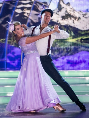 Week 5: Katherine Lynch looked so elegant in lavender last night. Her foxtrot was described as West Side Story-Leitrim Style.