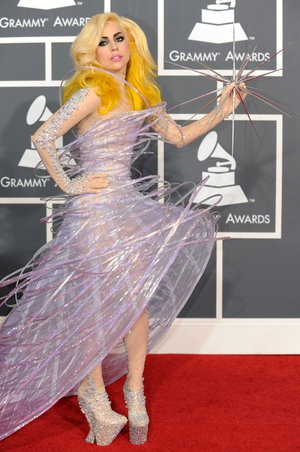 10. Here is a famous outfit by Giorgio Armani at the Grammy Awards in 2010. A cosmic piece of art.
