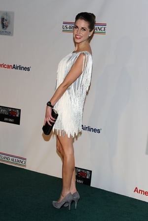 Our Irish Daisy Buchanan in a fringed Tim Ryan dress at the Oscar Wilde pre-Oscar party in Santa Monica in 2012.