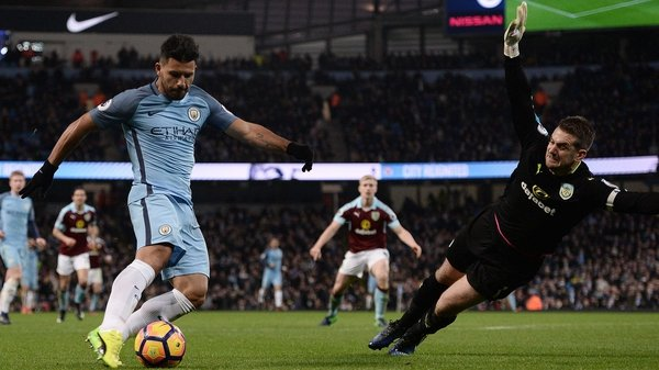 Sergio Aguero (L) has been benched for Manchester City's last two games
