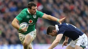 Robbie Henshaw in action at Murrayfield