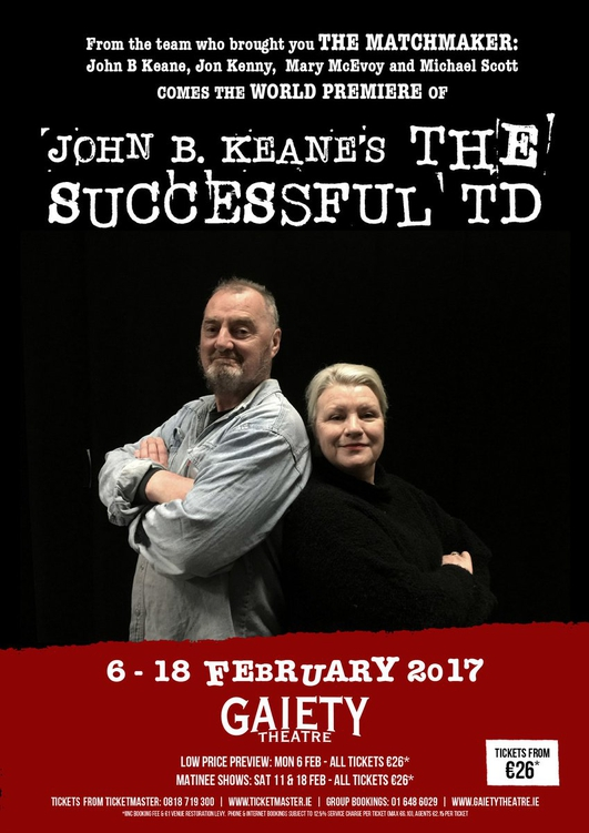 "Review: ""The Successful TD"" by John B Keane, starring Jon Kenny and Mary McEvoy"