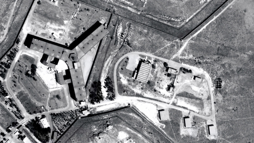 A handout photo from Amnesty International/Forensic Architecture shows Saydnaya prison