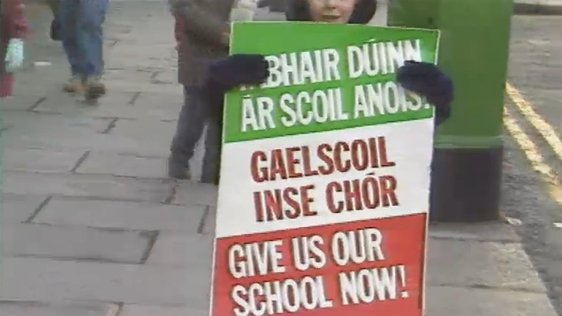 Gaelscoil Protest (1987)