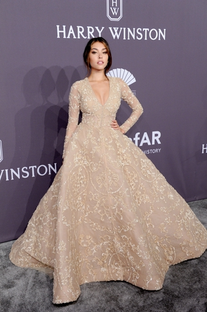 Singer and actress Madison Beer wore a breath taking Ashi Studio gown.
