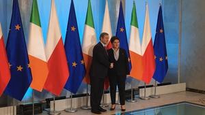 Enda Kenny with his Polish counterpart Beata Szydlo