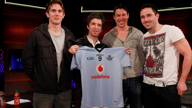 Noel Gallagher and Dublin footballers