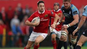 Darren Sweetman starts for Munster