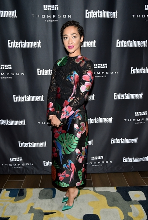 At the Entertainment Weekly Must List Party in Toronto, Ruth wore an embroidered Valentino dress.