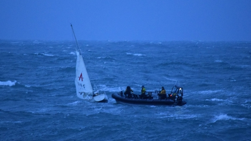 The vessel was taking on water in difficult sea conditions