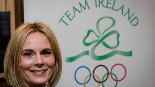 Sarah Keane after her victory at the Olympic Council of Ireland EGM