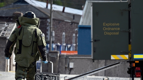 Army Bomb Disposal was called to the scene