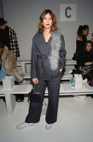 Thursday Day 1: The beautiful and cool Alexa Chung always on point at the Noon By Noor fashion show.