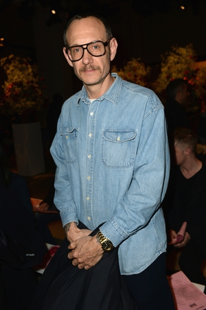 Thursday Day 1: Photographer Terry Richardson at the Adam Selman fashion show.
