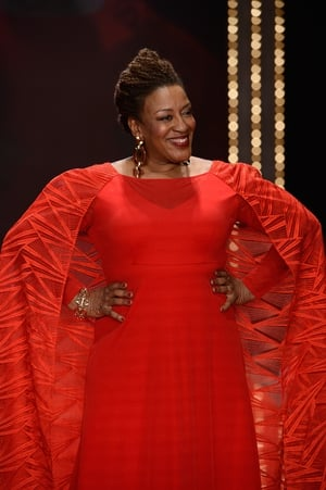 Thursday Day 1: N.C.I.S. Actress C.C.H. Pounder looked amazing in red for The American Heart Association's Go Red For Women show.