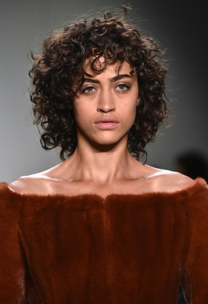 Thursday Day 1: Off-shoulders and fur at the Seen Around fashion show with stunning natural make-up.
