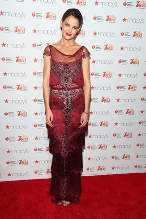 Thursday Day 1: Katie Holmes looks beautiful in vintage frills at the American Heart Association's Go Red For Women show.