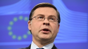 Commission Vice President for the Euro Valdis Dombrovskis warns Italy must come up with a new plan in three weeks