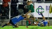 Leinster's Jordan Larmour bagged two tries in the win over Italy a fortnight ago