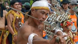 A Tatung participates in the Cap Go Meh parade