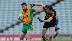 Corofin's Michael Lundy and Luke Quinn of Dr Crokes in action the 2017 All-Ireland semi-final