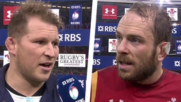 RBS 6 Nations: Dylan Hartley & Alun Wyn Jones