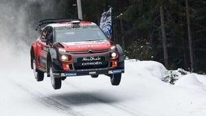 Craig Breen's Citroen soars at Rally Sweden