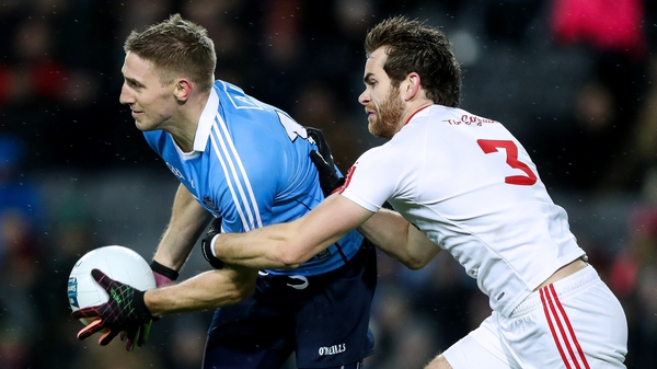 Dublin's Eoghan O'Gara battles for possession during the draw with Tyrone