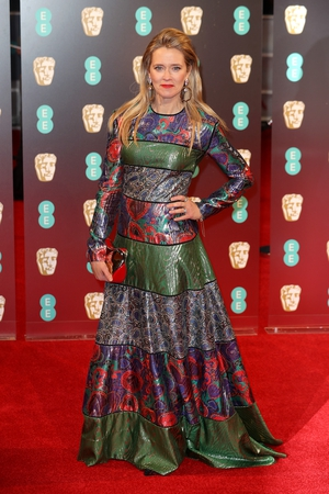 Miss: Edith Bowman's unusual sequined number looks like four dresses in one. Not for us.