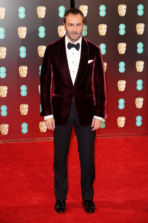 Fashion designer and Nocturnal Animals director and Bafta nominee, Tom Ford wearing nothing but!