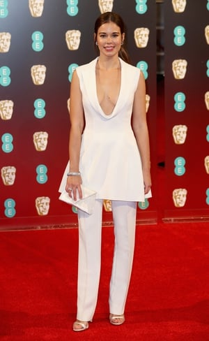 Miss: Victoria actress Laia Costa's plunging white two piece didn't match up for us.