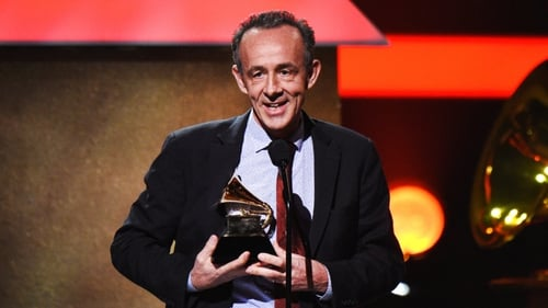 Blackstar producer Kevin Killen accepts one of Bowie's four posthumous Grammys in LA on Sunday