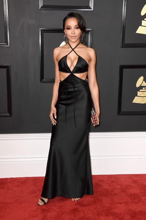 Miss: This dress may have a place but its not the red carpet and with that figure singer-songwriter Tinashe has the pick of the crop.