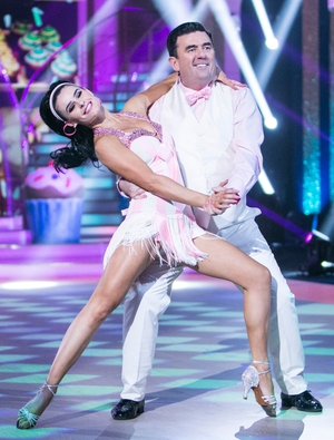 Week 6: Dancing Dessie donned a gorgeous pink bow tie for his super sweet cha-cha.