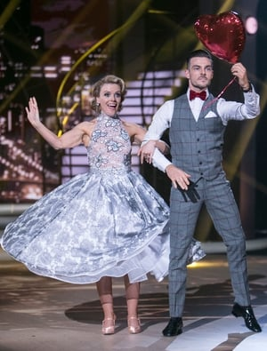 Week 6: Denise and Shane dressed to impress for their American Smooth performance. We've never seen Shane look so snazzy!