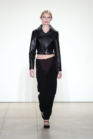 Sunday Day 4: Cat eyes and black leather from Vivienne Hu - eternal basics that always work!