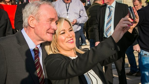 Martin McGuinness and Michelle O'Neill