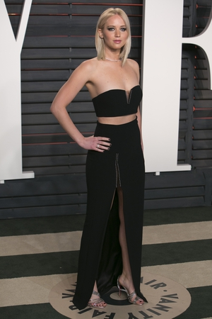 Stunning in a an Alexander Wang two-piece at the 2016 Vanity Fair Oscar Party.