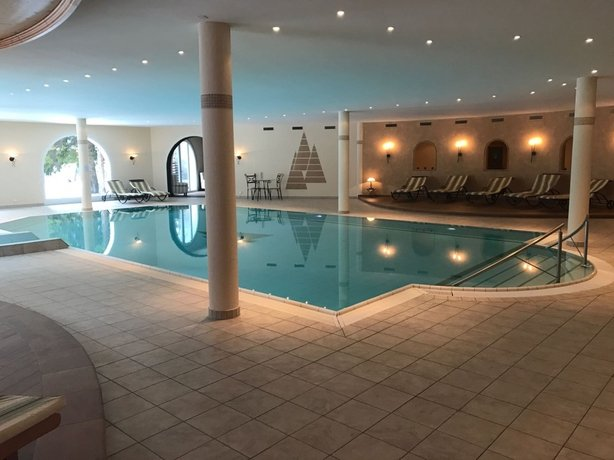 The swimming pool at the Waldhotel Doldenhorn